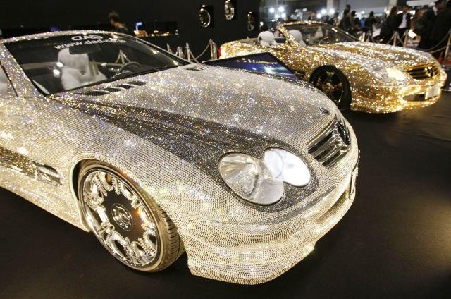 diamond studded mercedes (3)